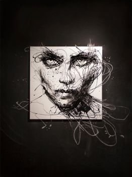 in trouble, she will - on blackboard by agnes-cecile