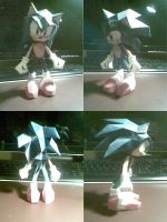 sonic papercraft by Heyro0