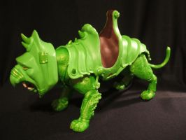 MOTUC Slime Pit Battle Cat by masterenglish