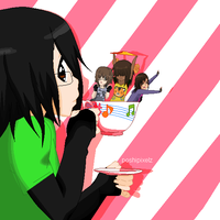Tea Time Bby -collab- by Pixeltard