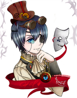 Ciel in steampunk world by krustal-chan