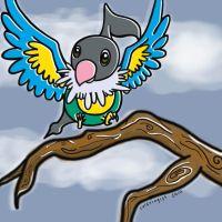 lovely little chatot by Lulzologist