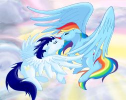 Soarin' and Rainbow Dash by CrownePrince
