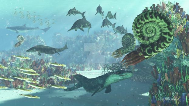 Late Jurassic Reef by PaleoGuy