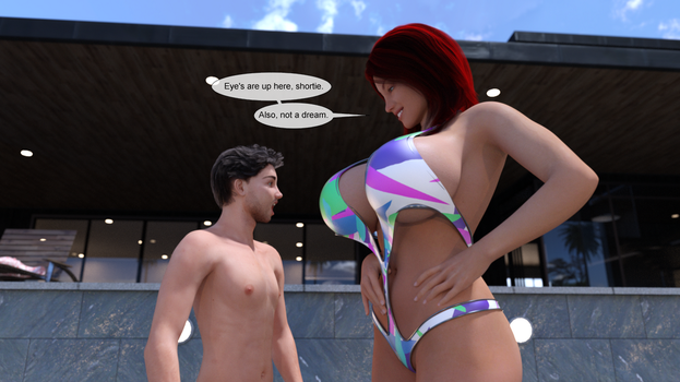 Hydrophilia - giantess comic preview 2 by Muad3D