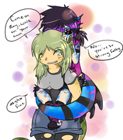 Piggy back rides by alinoravanity