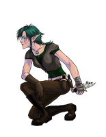Sylvia, elf rogue by Infernal-Feline