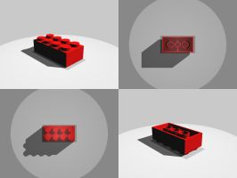 Lego Block by Jammurch