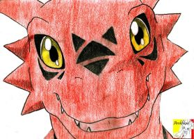 guilmon smile by Chibisuke2