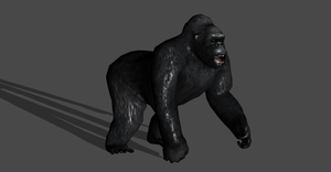 GORILLA FULLY POSEABLE by Oo-FiL-oO