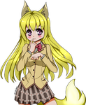 Chizuru fox form (kanokon) by AmadoSan