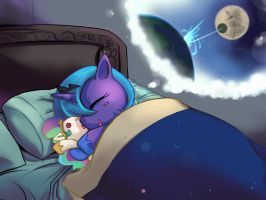 MLP FIM : Luna's sweet dream by bakki