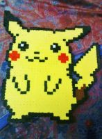Large Pikachu Perler by Perler-Pop