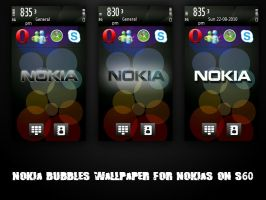Nokia bubbles wallpaper - S60 by skater-andy