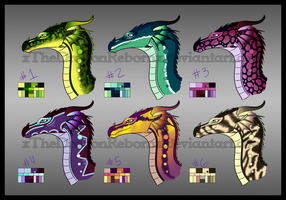 RainWing Adopts 1-8-17 [ALL SOLD] by xTheDragonRebornx