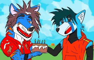-BG- I made a cake for you. by Master-wolf149