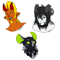 [C] Tani, Ziggy, and Aisling by Squidtonic