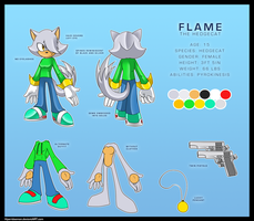 Comm::Flame the Hedgecat ref by Nero-Blackwing