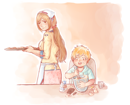 Cooking with Mama by Peatchoune