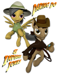 Daring Do and Indiana Jones. by Neros1990