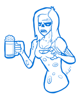 Zombie bartender by imn01