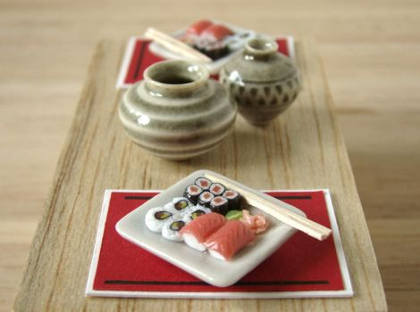 Miniature Sushi For 2 by PetitPlat