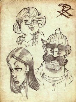 Faces 1 by Chivohit