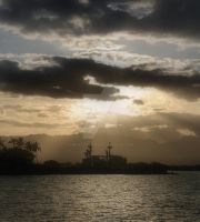 Sunset Over Pearl Harbor by AmethystUnderwood