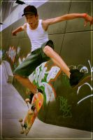 Crazy Skatin Dude by Jer-Trow