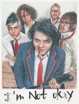 My Chemical Romance - I'm Not Okay (Drawing) by Tokiiolicious