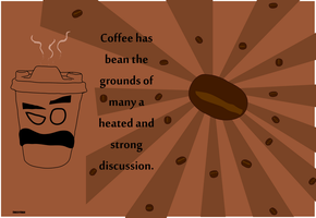 Coffee Sir Pun Poster by CheesyChan