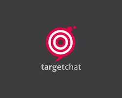Target Chat Logo Template by domibit