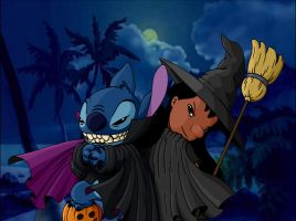 Lilo and Stitch Halloween by Ribera
