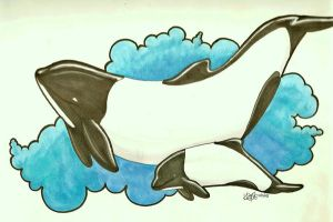commerson dolphins by iwuvrubberduckies