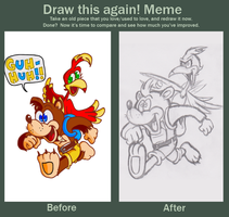 Banjo Kazooie Before and After by JamesmanTheRegenold