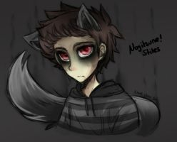 [Doodle] Nogitsune!Stiles by Nadi-Chan