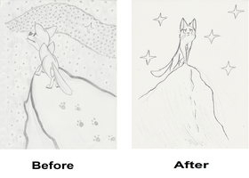 Silverpelt - Before and After by PinkuFootsie