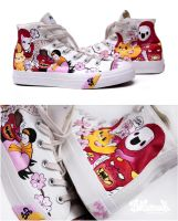 Yokai Chucks by Bobsmade