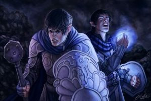 Holy Halfling Twins by NickRoblesArt