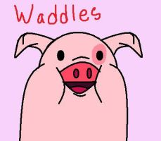 Waddles by InvaderZaff