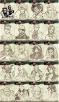 Marvel Sketch Cards 1 by kathrynlayno