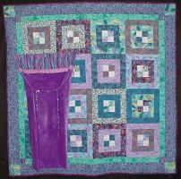 Liz's Quilt with Pillow by unicornslave