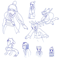 Sketch Dump num.4 by DragonessBahamut