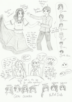 random sketchdump! (starring Indonesia / Colombia) by melonstyle