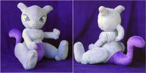 Mewtwo Plush by Patchwork-Shark
