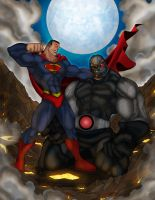 Superman Vs Darkseid by Helmsberg