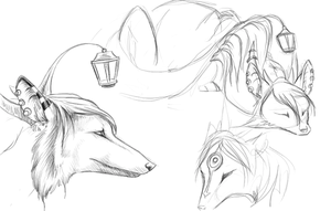 New OC Sketches by earthsea-23
