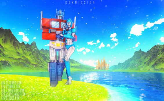 G1: Optimus Prime and Lilly by ERA-7S