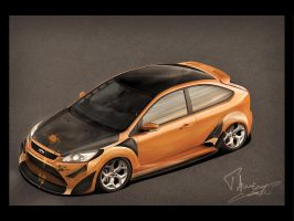 Ford Focus 4Tuning Days Front by enth3os