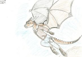 Dragon taking off by Dinoboy134